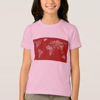 Roter sandiger Atlas T-Shirt
