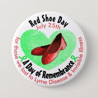 Roter Schuh-Tag, ein Tag der Erinnerung Runder Button 7,6 Cm