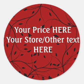 Roter/schwarzer Preis-Aufkleber KUNDENGERECHT Runder Aufkleber