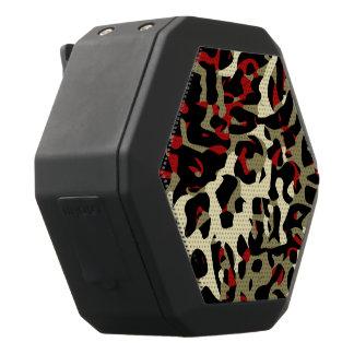Roter schwarzer SahneCheetah abstrakt Schwarze Bluetooth Lautsprecher