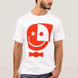 Roter smiley mit Bogen-Krawatte T-Shirt