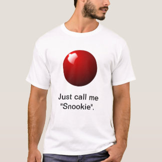 Roter Snooker-Ball-Tabellen-Sport T-Shirt