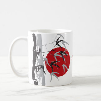 Roter Sonnenaufgang-orientalischer Kaffeetasse