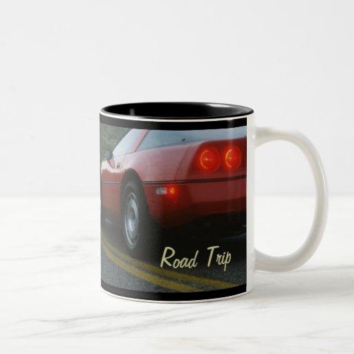 Roter Sportwagen - Corvetta Teetasse