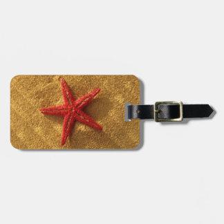 roter Starfish-Gepäckanhänger Kofferanhänger