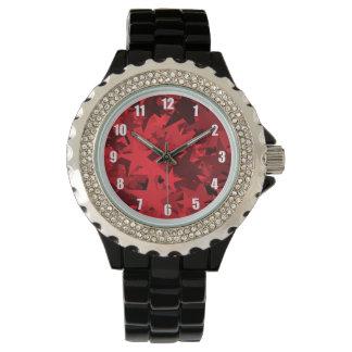 Roter Stern-gemusterte Uhr