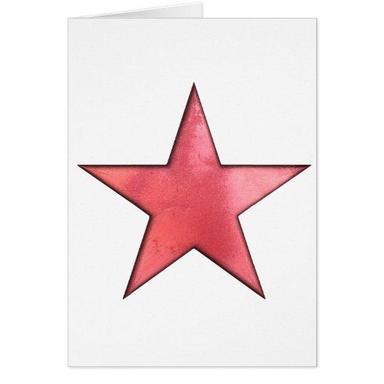 roter Stern Grußkarte