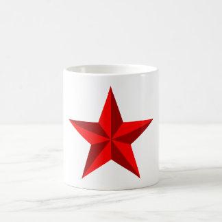 roter Stern Pentagramm red star pentagram Kaffeetasse
