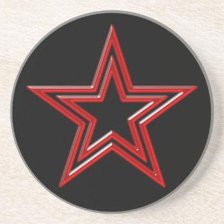 roter Stern Pentagramm red star pentagram Untersetzer