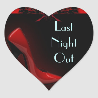 roter Stilett-Brautparty-Junggeselinnen-Abschied Herz-Aufkleber