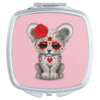 Roter Tag des toten Löwes CUB Taschenspiegel