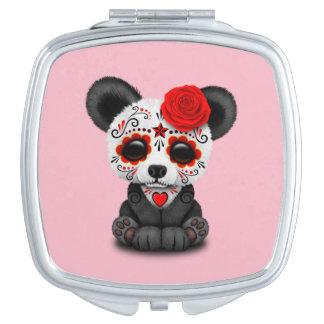 Roter Tag des toten Pandas Schminkspiegel