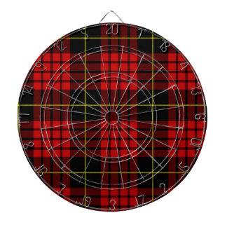 Roter Tartan-MetallkäfigDartboard Dartscheibe