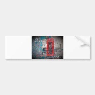 roter Telefon-Stand Pass-Briefmarken Londons Autoaufkleber