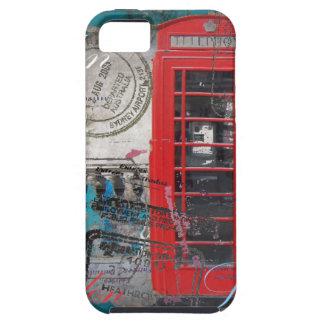 roter Telefon-Stand Pass-Briefmarken Londons iPhone 5 Schutzhülle