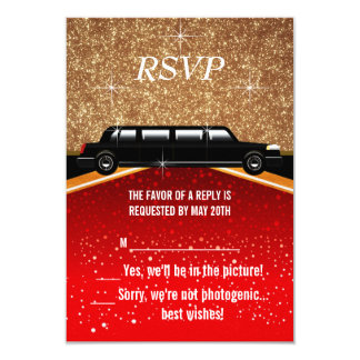 Roter Teppich Hollywood UAWG 8,9 X 12,7 Cm Einladungskarte