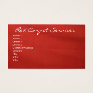 Roter Teppich Visitenkarte