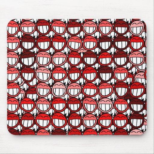 Roter Teufel-Smiley-lustiger Spaß-Lachen-Cartoon Mousepads