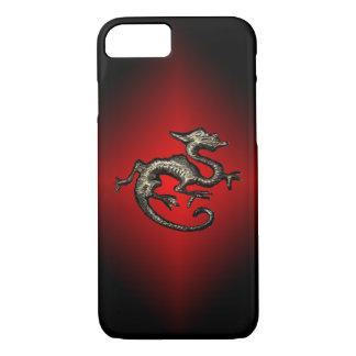 Roter u. schwarzer Drache iPhone Kasten, Halter iPhone 8/7 Hülle