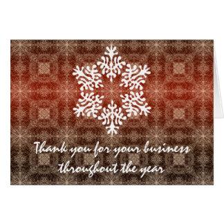 Roter u. weißer Geschäfts-Feiertag danken Ihnen Mitteilungskarte