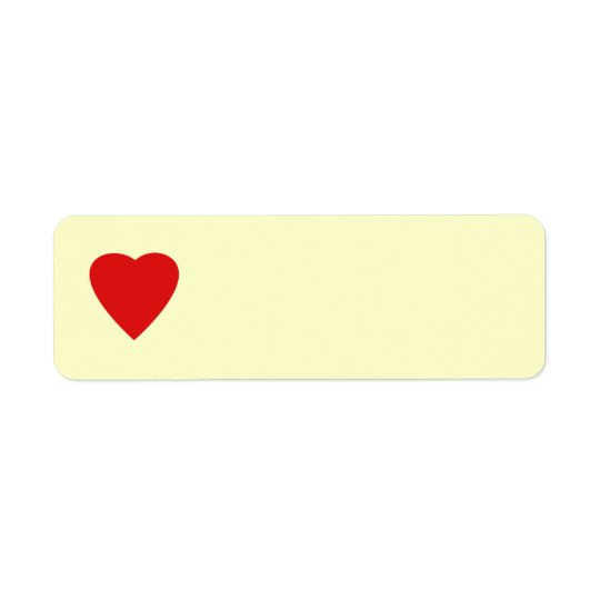 Roter und SahneLiebe-Herz-Entwurf