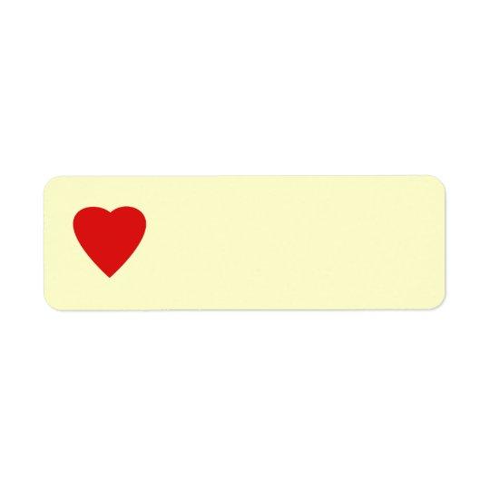Roter und SahneLiebe-Herz-Entwurf Rücksende Aufkleber