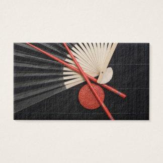 Roter und schwarzer Zen Visitenkarte