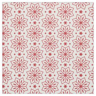 Roter und weißer Blumen-Sternchen-Vereinbarung Stoff