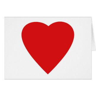 Roter und weißer Liebe-Herz-Entwurf Karte
