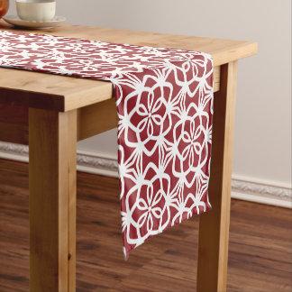 Roter und weißer Umfangs-Muster-Tabellen-Läufer Kurzer Tischläufer