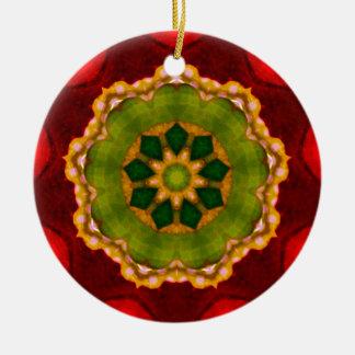 Roter Weihnachtsruhm Keramik Ornament