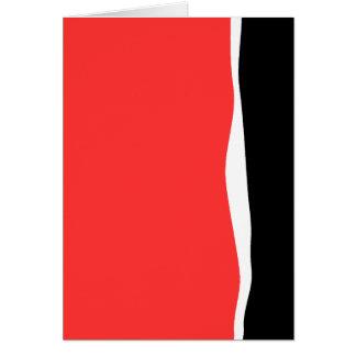 Roter, Weiß-u. Schwarz-Entwurf Karte