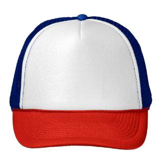 Roter/weißer/blauer Fernlastfahrer-Hut Netzkappe