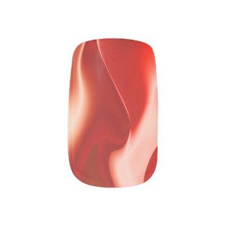 Roter weißer Feuer-Entwurf Minx Nagelkunst