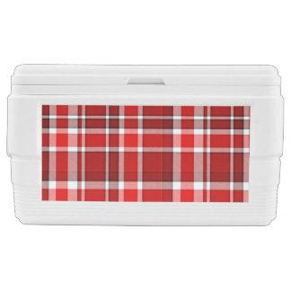 Roter weißer karierter Tartan Kühlbox