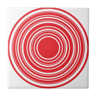 Roter weißer konzentrische fliese