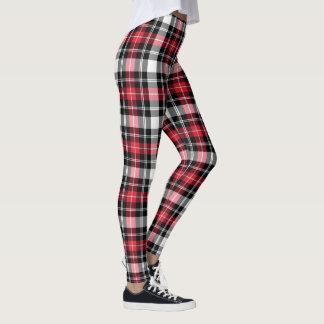 Roter weißer schwarzer karierter leggings
