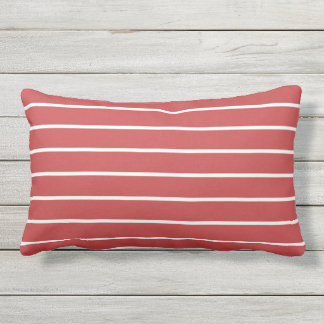 Roter weißer Streifen-klassischer Seeentwurf Kissen