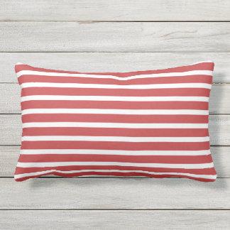Roter weißer Streifen-klassischer Seeentwurf Zierkissen