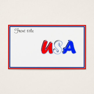 Roter weißer u. blauer USA-Text Visitenkarte
