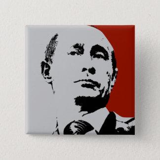 Roter Wladimir Putin Quadratischer Button 5,1 Cm