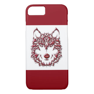 Roter Wolf iPhone 7 Hülle