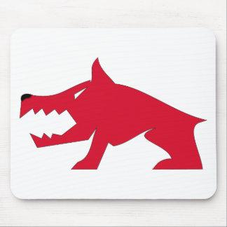 Roter Wolf Mauspad