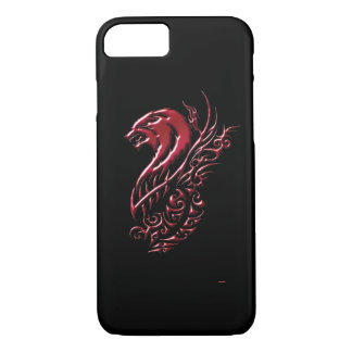 Roter Wolf-Schwarzes iPhone 7 Hülle