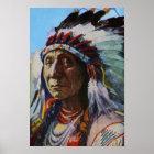 Roter Wolke Oglala Lakota Sioux hauptsächlichstamm Poster