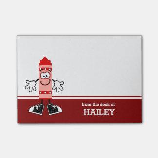 Roter Zeichenstift personalisiert Post-it Haftnotiz