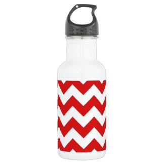 Roter Zickzack Stripes Zickzack Muster Trinkflasche