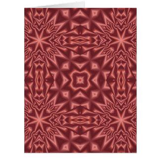 Rotes abstraktes Muster Karte