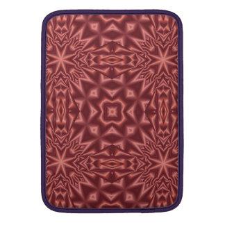 Rotes abstraktes Muster MacBook Air Sleeve