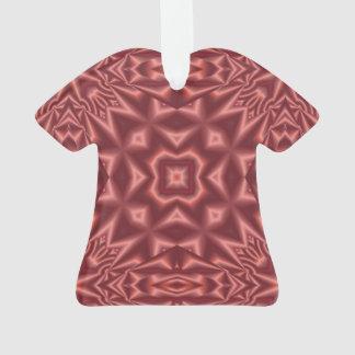 Rotes abstraktes Muster Ornament
